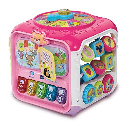 VTech - Baby Activiteiten Kubus - Roze - Plastic - Voor Jongens en Meisjes - Van 9 tot 36 maanden - Nederlands Gesproken