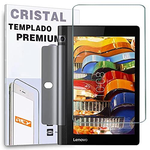 REY Protector de Pantalla para Lenovo Yoga 3 X50M 10,1', Cristal Vidrio Templado Premium