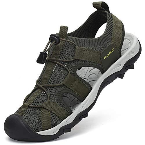 FLARUT Sandali Estivi Uomo Esterni Traspirante Sandali Sportivi Scarpe da Trekking Passeggiata Fisherman Casual Sneakers Antiscivolo