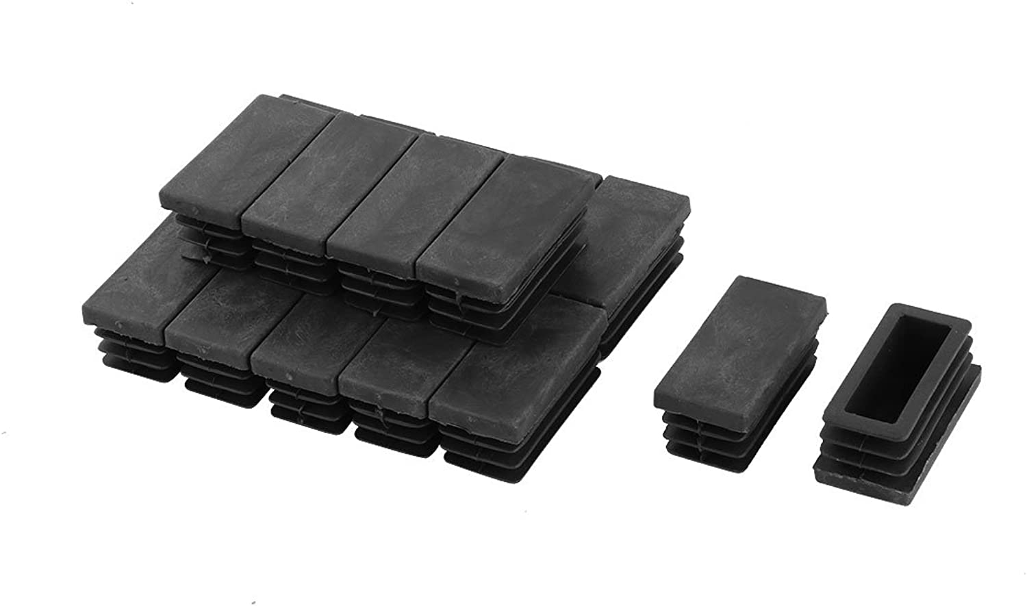 20 Pieces Black Plastic Blanking End Caps Pipe Inserts 20mm x 40mm