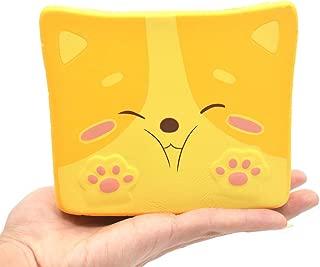 Kiibru Squishies Shiba Inu Toast Jumbo Squishy Slow Rising Scented Bread 5.5