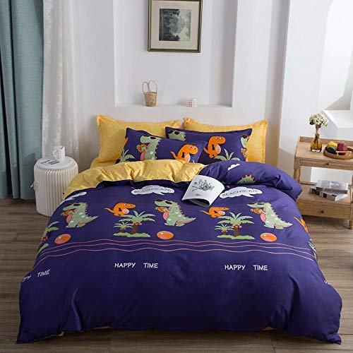 Miwaimao Aloe Family Of Four Students Three-Piece Cotton Bed Linen Quilt Bedding Dormitory,Beach Play,1.5m Family Of Four