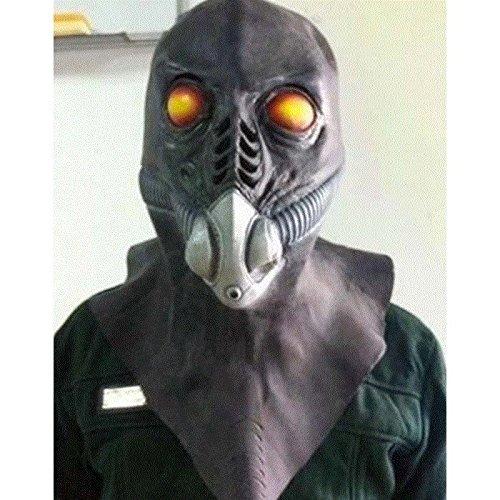 GAOQIANG Gasmaske Gasmaske Alien Horror Halloween Verkleiden Sich Latex Cap