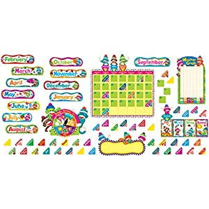 Trend Enterprises T-8416BN Sock Monkeys Calendar Bulletin Board Set, Pack of 2 Sets