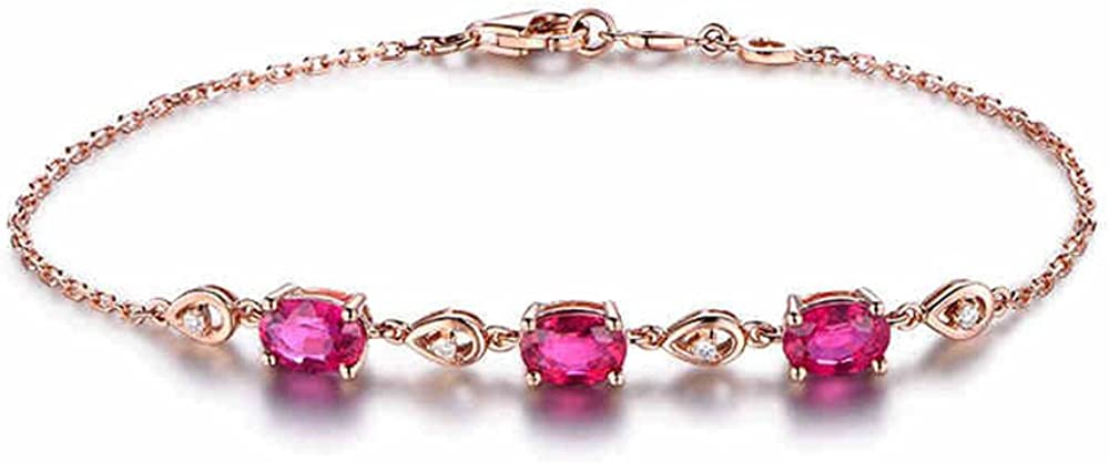 Natural Red Tourmaline New sales Solid 18k Sale item Women Diamond Gold Rose Infinit
