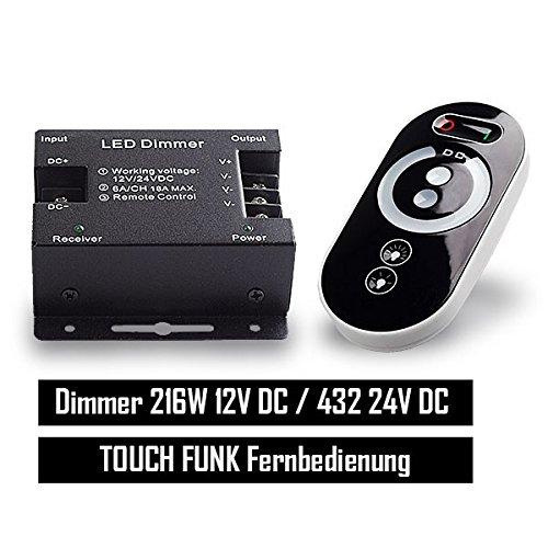 Mextronic LED-Funk-Dimmer Inkl. Touch-Fernbedienung für LED-Strips [Energieeffizienzklasse A+]