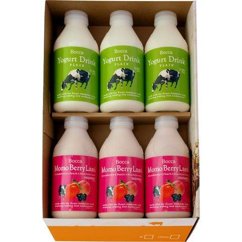牧家 (bocca) 飲むヨーグルト&ラッシー 6本セット (500g×6) 北海道生乳100%