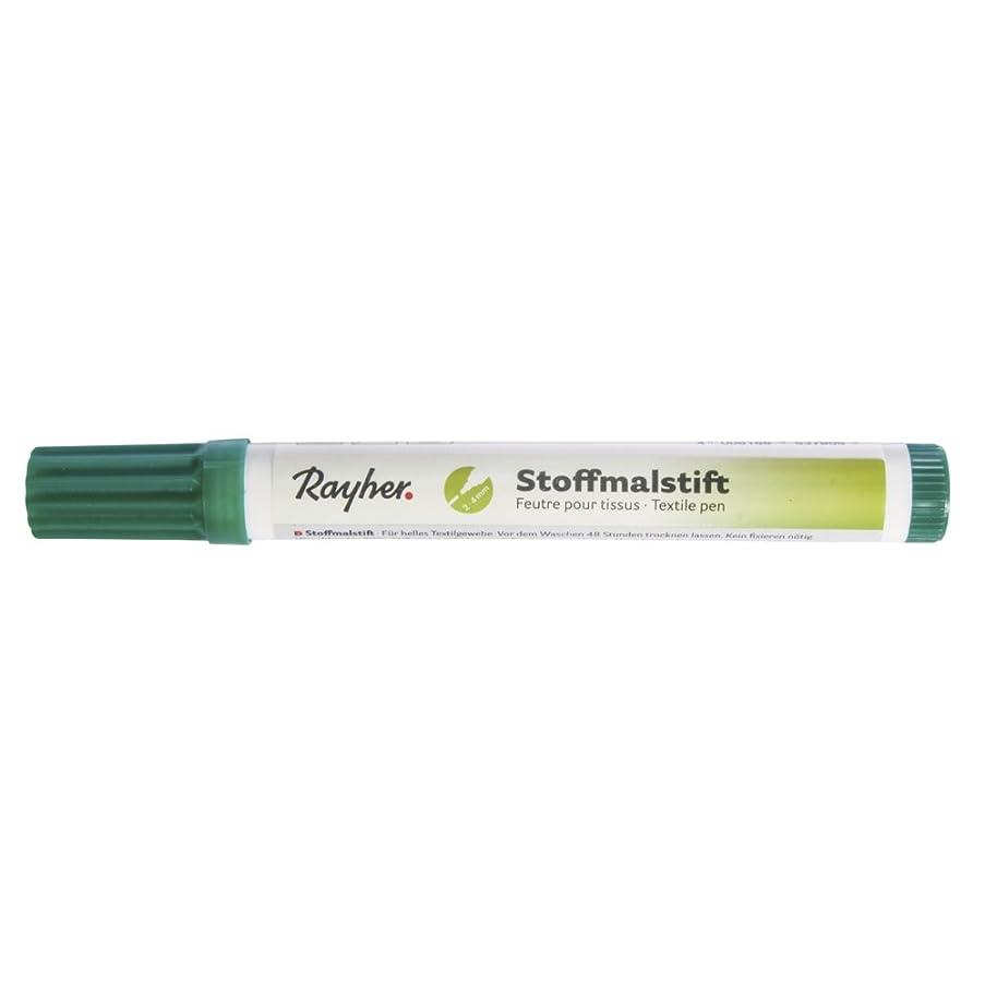 RAYHER 3825413?Fabric Crayons Thick Tip Dark Green