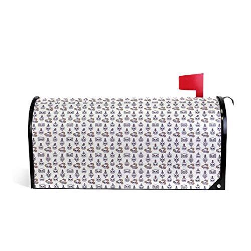 prz0vprz0v Leuke Schedel Vogel Kaars Slang Magnetische Mailbox Cover Home Tuin Decoraties 21 x 18 Inch Waterdichte Canvas Mailbox Cover