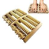 Holz Roller Fuß Massagegerät Fußreflexzonen-Plattform Zur Verbesserung Der Fußzirkulation Fuß...