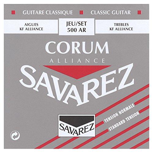 Savarez Cuerdas para guitarra clásica Cuerdas suelta E6w Corum Standard 506R (506R (6th))