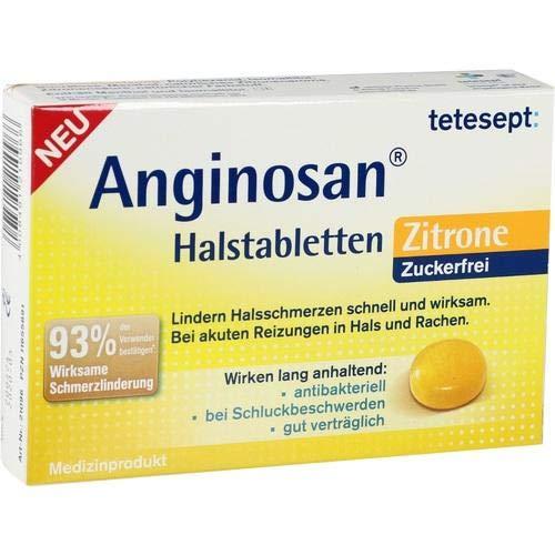 Tetesept Anginosan Halstabletten Zuckerfrei Zitro.