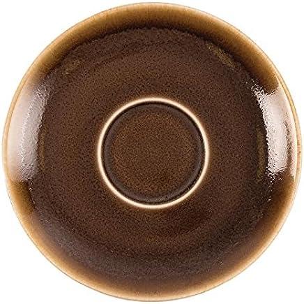 Preisvergleich für Olympia Kiln GP363 Bark Cappuccino-Untertasse, Porzellan, 140 mm Durchmesser, Braun, 6 Stück