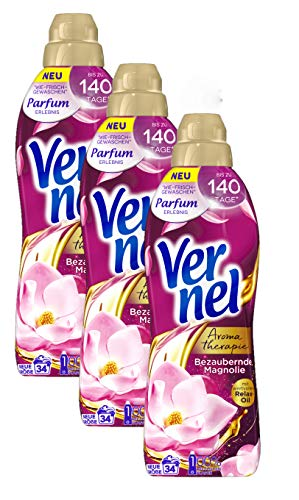 Vernel Aromatherapie Bezaubernde Magnolie, Weichspüler für einen langanhaltenden Duft und traumhaft weiche Wäsche (102(3x34) Waschladungen)