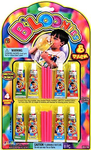 B'loonies Plastic Balloon Variety 8 Tubes. Great Original Bloonies Bubble Making. 774-1A