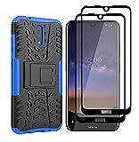 GOGME Hülle für Nokia 2.4 Hülle + 2 Panzerglas, Rugged