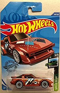Hot Wheels 2020 Super Treasure Hunt F Case Mazda RX-7 Speed Blur 5/5 #130, Burnt Orange