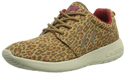 L.A. Gear Damen Sunrise Sneakers, Mehrfarbig (Leopard-Red 01), 36 EU