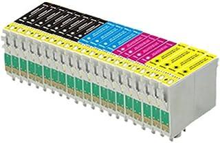 20 compatibles cartuchos de tinta de impresora (4 series de 4 + 4 negras) para Epson Stylus SX125 SX130 S22 SX420W SX425W SX445W BX305F BX305FW SX230 SX235W SX445W SX435W SX430W SX438W SX440W, 8x T1281, 4x T1282, 4x T1283, 4x T1284