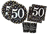 Irpot Kit A Addobbi Compleanno Scintillante Happy Birthday Sparkling Celebration (50 Anni)