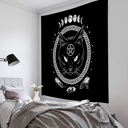 WERT Tarot Sol y Luna Patrón Manta Tarot Indio Mandala Tapiz Colgante de Pared Bohemia Gypsy Home Dormitorio Decoración Tapiz A3 150x200cm