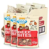 Good Boy - Bitesize Beef Bites - Dog Training Treats - Made with Over 55% Natural Meat - 65 g ℮ - Low Fat Dog Treats - Case of 10
