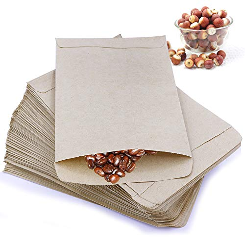 PRUNS 120 Pieces Seed Packets Blank Seed Envelopes Empty Seed Paper Bags Bulk for Flowers, Wildflower, Party Favors, Wedding, Vegetables, Sunflower (4.7 3.5 Inches) (Seed Packet)
