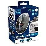 フィリップス フォグランプ LED H8/H11/H16 6000K 2400lm 12V 10W エクストリームアルティノン 車検対応 3年保証 2個入り PHILIPS X-tremeUltinon 12834UNIX2JP