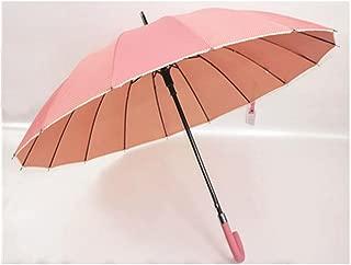 Hook Straight Sunshine Umbrella Gold Glue Anti-UV Princess Sun Umbrella Pink Huhero (Color : Pink)