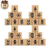 Caja de regalo de chocolate 12/24pcs Handy a prueba de aceite Cajas de invierno de Navidad para bizcocho de caramelo Caja de papel Caja de papel Muffin Muffin Caja de regalo Caja de regalo Año Nuevo F