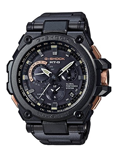Casio G-Shock mtgg1000rb-1adr GPS Trenzado Metal MB6Triple-g años IP Reloj mtg-g1000rb-1a