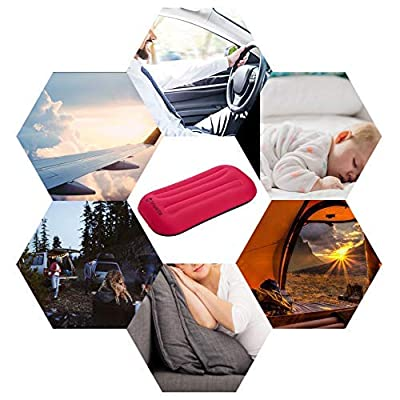 Camping Pillow Jinweite Travel Pillow Inflatable Pillow Portable Outdoor Home Travel Tourism Camping Neck Pillow Foldable