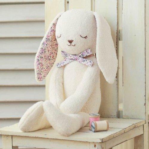 ハマナカ手芸パック『オーガニックコットングッドナイトやわらか手触りのウサギ(H434-024)』