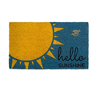DII DM Doormat, 18x30 , Hello Sunshine