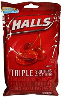 Halls Chry Drps Size 30ct Halls Cherry Drops 30ct