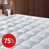 SOPAT Double Mattress Pad Cover Cooling Mattress Topper Cotton Top Pillow Top