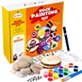 BOKIN RockPaintingKit,River Stones/Palette/ Round Wood/Transfer Stickers/Acrylic Pen/Brushes ArtsCraftsSupplies forKids and Adults,Mandala RockPainting,Hide and Seek Gift