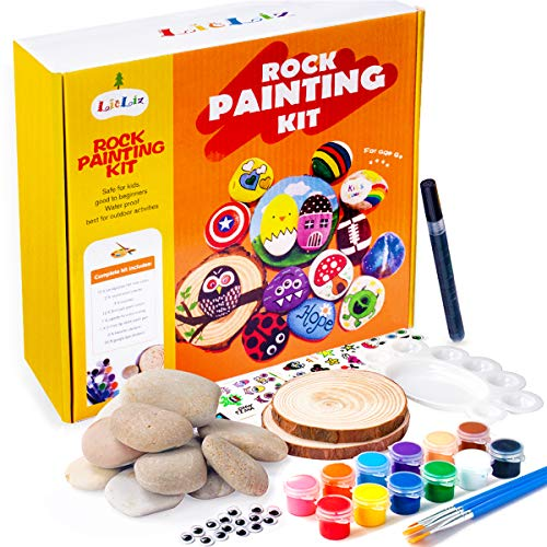 Rock Painting Kit for Kids Ages 4-8,Hide and Seek for Kids 9-12 Arts and Crafts Painting Gifts for Girls Boys