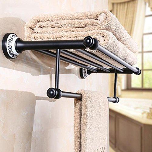 Accessoires de quincaillerie de salle de bain rétro noir Ensemble de quatre pièces (porte-serviettes + porte-serviettes + boîte à mouchoirs + brosse de toilette) Rollsnownow (Couleur : B)