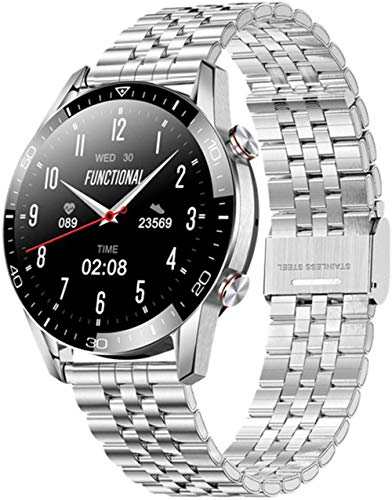 wyingj Reloj inteligente para hombres y mujeres Bluetooth llamada 1.3 pulgadas pantalla táctil completa monitor de salud reloj inteligente d