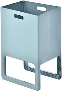 Boîte de rangement XIAOXIAO Pliant en Plastique Panier De Rangement Panier De Rangement pour Salle De Bains (Color : Blue)