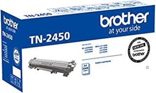 Brother Genuine TN2450 High-Yield Printer Toner Cartridge, Black, Page Yield Up to 3000 Pages, (TN-2450)
