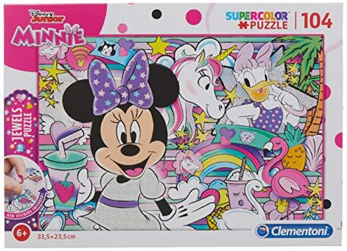 20154 Puzzle 104 Piezas con Joyas Minnie Happy Helpers, Multicolor (20154.9)