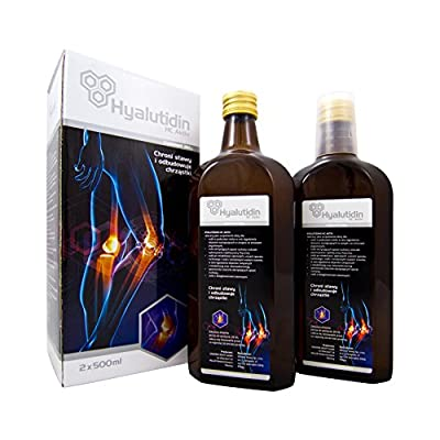 Hyalutidin HC Aktiv- for bones and joints hyaluronic acid & chondroitin 2 x 500 ml for 1 year.