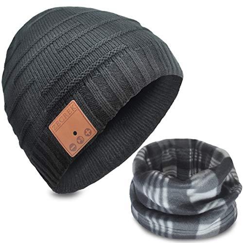ZecRek Gorro inalámbrico Bluetooth con auriculares para hombre, para correr, regalo para hombres, mujeres, adolescentes, niñas