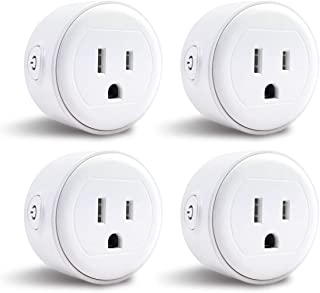 Wifi Smart Plug Mini, Astrodot Smart Home Power Control Socket, Remote Control Your Household Equipment from Everywhere, No Hub Required, Compatible with Amazon Alexa, Echo Dot & Google Home (4)
