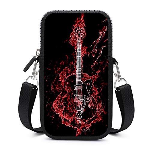 Bolso bandolera para teléfono móvil con correa de hombro extraíble, para guitarra, a prueba de sudor, funda para teléfono, cartera, gimnasio, fitness, para niñas