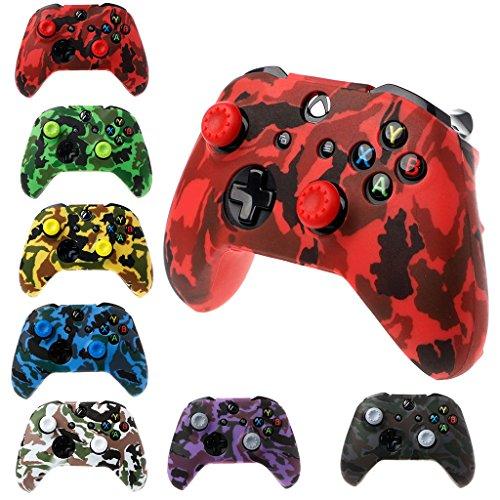 Funda de silicona para mando de Xbox One X S, diseño de camuflaje 1