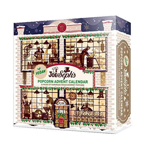 Joe & Seph's Popcorn Advent Calendar | New 2020 Version | 24 x Individual Bags | Gluten Free | Suitable for Vegetarians