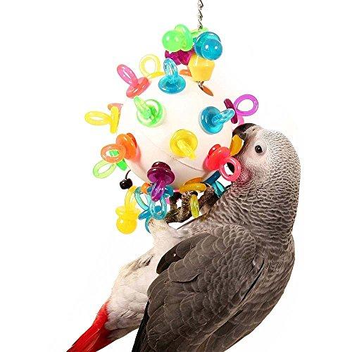 Super Binkies appeso Wiffleball Parrot Toy–grande